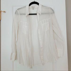 Joie Button Down Linen Blouse
